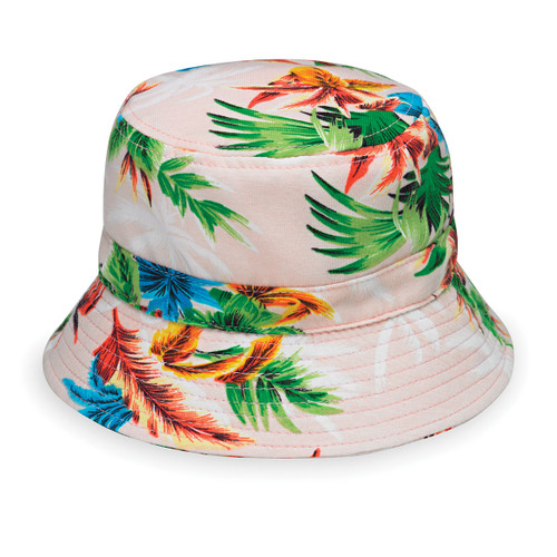Baby Wallaroo Maui UPF50+ Sun hat pink palm tree