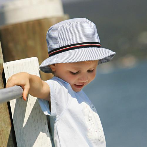 Girls/Boys Wallaroo Sawyer Hat 4-8 Years (UPF50+) - Pink/Blue
