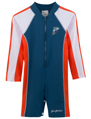Boys long sleeve uv swim suit 1-piece tangelo