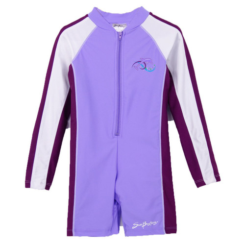 Girls SUn Busters UV Swim suit 1-piece grape_plum