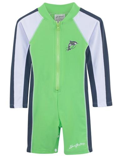 Boys Sun Busters long sleeve uv swim suit mantis
