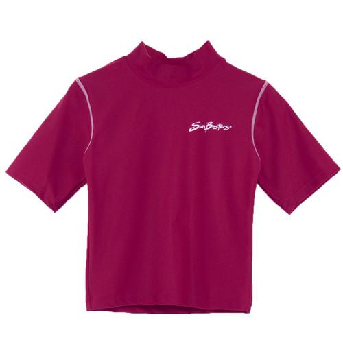 Girls Sun Busters UV swim shirt rash-guard cranberry