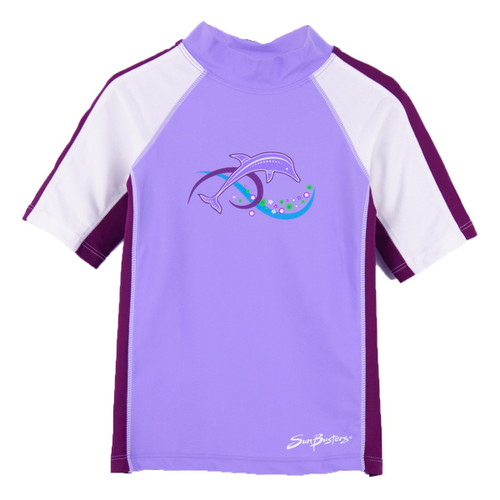 Girls Sun Busters UV Swim shirt rash-guard grape_plum