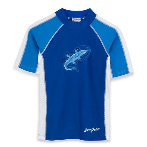 Sun Busters uv short sleeve swim shirt sea/sky