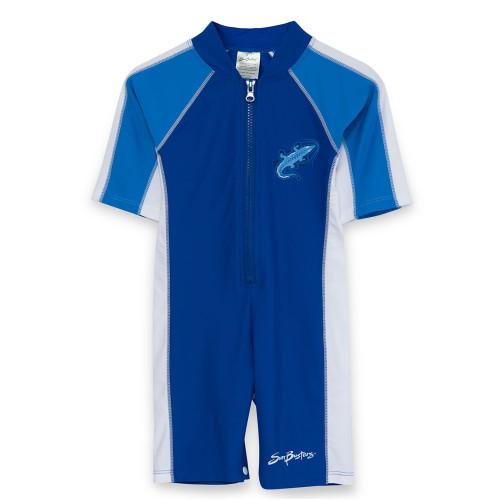 Boys Sun Busters Short Sleeve UV Swimsuit sea/sky
