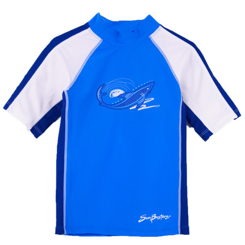 Boys Sun Busters short sleeve UV swim shirt Sky_water