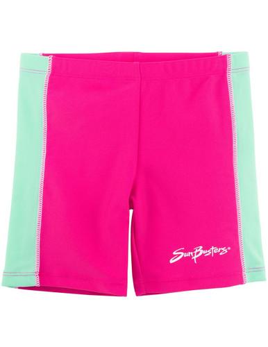 Girls Sun Busters uv swim rash shorts poppy