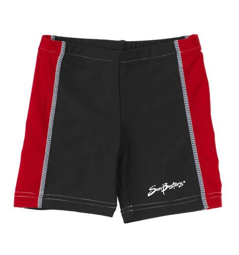 Boys Sun Busters uv swim rash shorts racer red