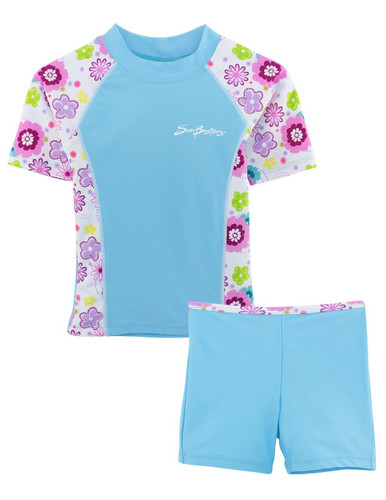 Girls Sun Busters UV Swim fitted rash set mallowberry