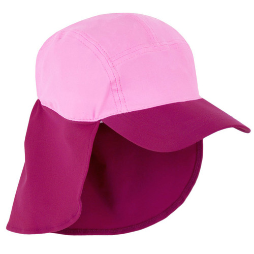 Girls Sun Busters UV legionnaire hat poppy combo