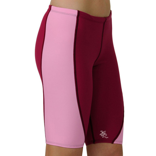 Womens Tuga UV Jammer swim shorts cranberry