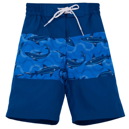 Boys Sun Busters indigo blue board shorts UPF50+
