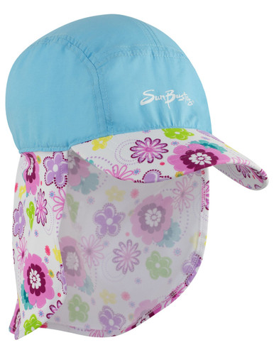 Girls Sun Busters UV legionnaire hat mallowberry