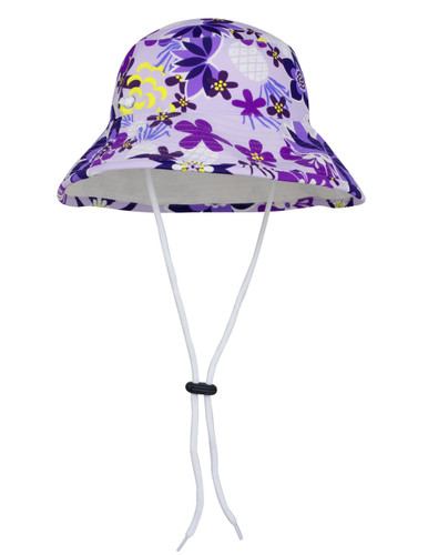 Sun busters Girls UV reversible bucket hat agate