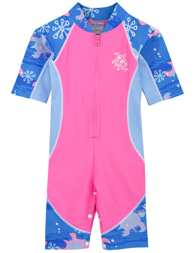 Sun busters girls uv low tide sun suit pink wave