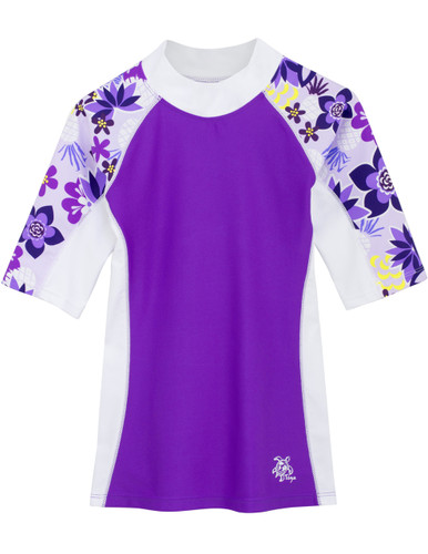 Girls Tuga seaside UV swim shirt agate