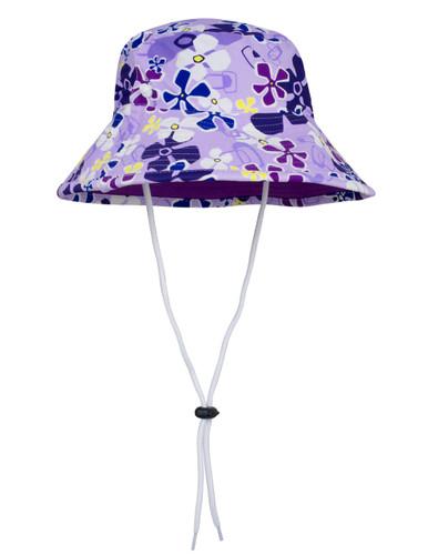 Sun busters Girls UV reversible bucket hat playtime