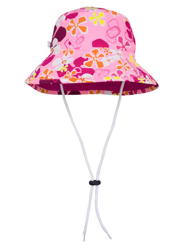 Sun busters Girls UV reversible bucket hat misty pink