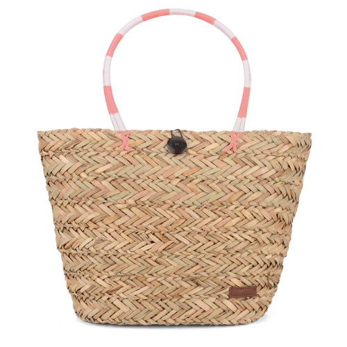 Urban Beach coral straw tote beach bag