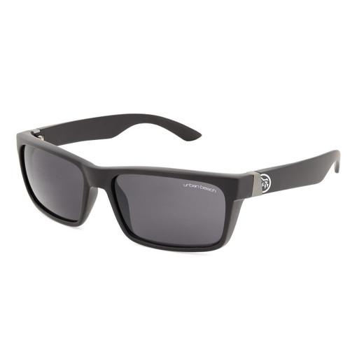 Mens Urban Beach Buddy sports sunglasses matt black