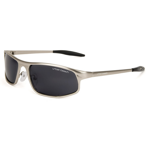 Mens Urban Beach metal sports sunglasses silver