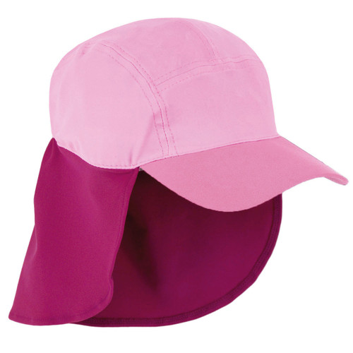 Girls Sun Busters UV legionnaire hat pink combo