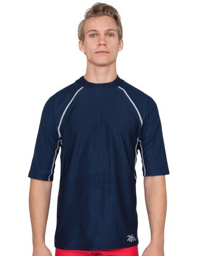 Tuga Mens short sleeve UV Swim short navy