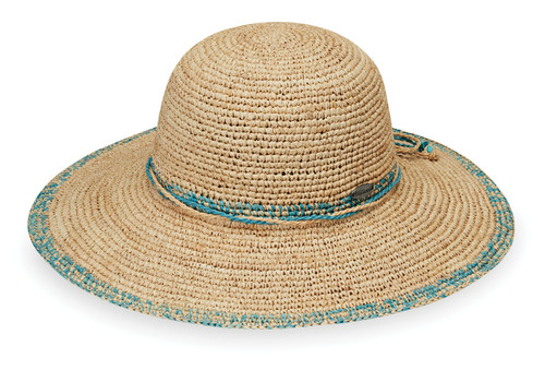 womens Wallaroo Camille wide brim hat turquoise
