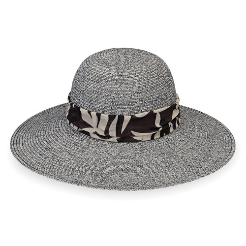 Womens Wallaroo Mia UPF50+ Sun hat black combo