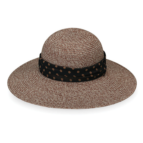 Womens Wallaroo Mia UPF50+ Sun hat brown combo