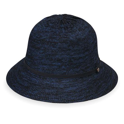Womens Wallaroo Tori UPF50+ sun hat mixed navy