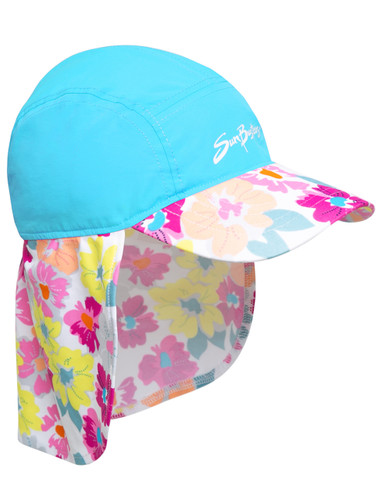 Girls Sun Busters UV legionnaire hat prettyberry blue