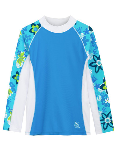 Girls Tuga UV Long Sleeve shoreline swim top cristillo