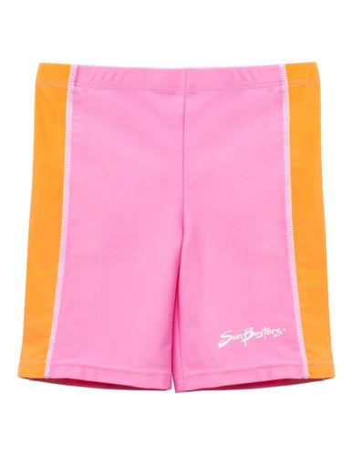 Boys Sun Busters uv swim rash shorts pink Bloom