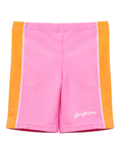 Boys Sun Busters uv swim rash shorts pink Bloom
