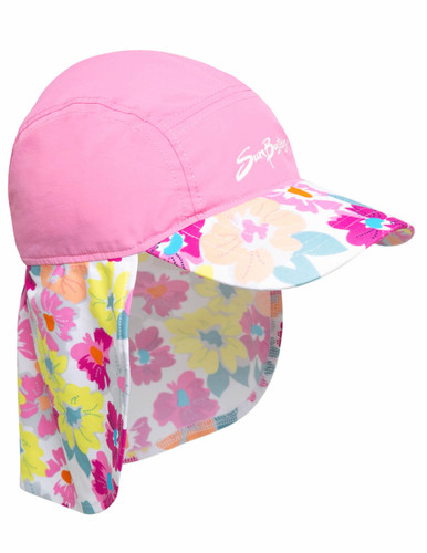 Girls sun busters prettyberry pink legionnaire upf50 hat