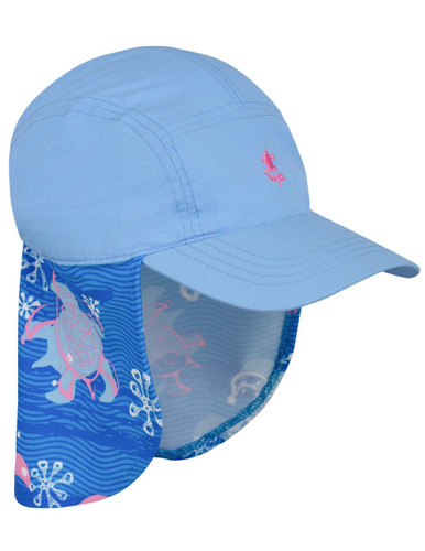 Tuga girls pink wave legionnaire hat