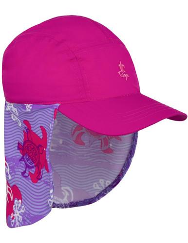 Tuga girls UV legionnaire hat purple wave