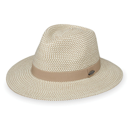 Women's Wallaroo Charlie UPF50+ fedora hat ivory taupe