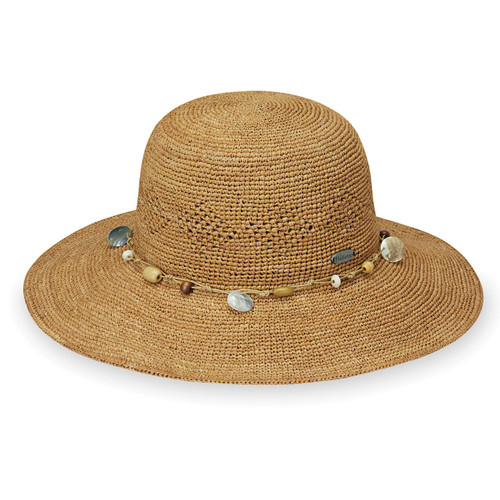Womens Ojai bucket hat almond side