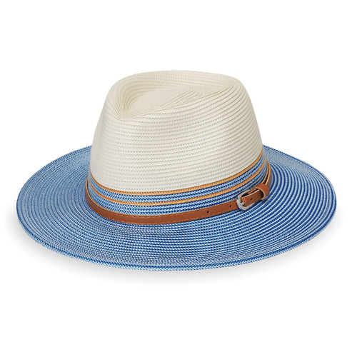 Wallaroo petite kristy upf50+ sun hat ice blue