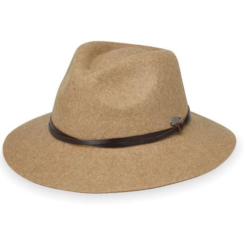 womens wallaroo aspen upf50+ felt hat camel