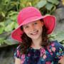 Girls Wallaroo petite scrunchie UPF50+ sun hat