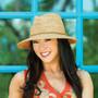 Womens Wallaroo Malibu fedora sun hat mushroom