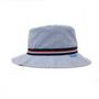 wallaroo boys blue stripes sawyer hat upf50 side