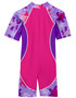 Sun busters girls uv low tide sun suit purple wave back