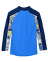 Boys tugs tube long sleeve rash guard fanatic blue back