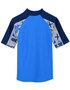 Boys tugs short sleeve uv swimshirt rash vest fanatic back