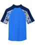 Boys tugs short sleeve uv swimshirt rash vest fanatic back