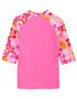 Girls Tuga UV Swim set tropical breeze taffy swim rash shirt back